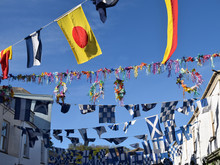 Bunting On May Day Padstow
