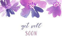 Get-well Card Template. Waterc...
