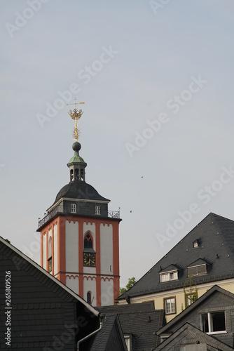 Montage in der Fensternische Darknightsky Siegen Nikolai Church