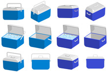 Ice Cooler Box Vector Cartoon ...