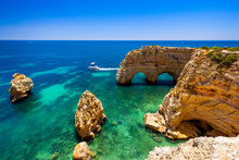 Natural Caves At Marinha Beach...