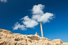Esfinge De Heliopolis, Templo De Serapis, Columna De Pompeyo, Barrio De Karomous, Ciudad De Alejandria, Egipto, Mar Mediterráneo