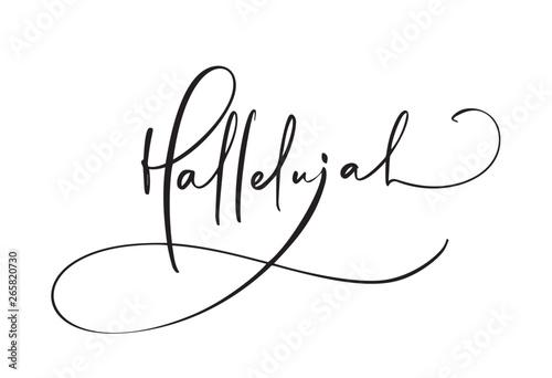 Hallelujah vector calligraphy text Fototapet