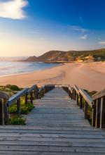 Wooden Walkway To The Beach Pr...