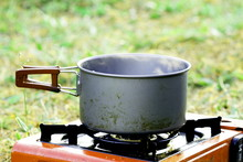 Boil Something In Pot On Gas S...