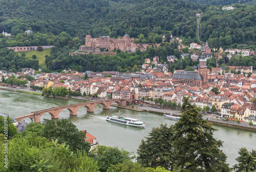 Photo Stands Nice Heidelberg, Germany - a university town and popular tourist destination, Heidelberg is a wonderful town which displays a baroque style Old Town and a romantic cityscape
