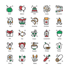 Chinese New Year Flat Icons Pack