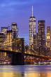 canvas print picture Brooklyn bridge New York