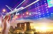 Leinwanddruck Bild - Singapore Tourism concept image background