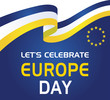 Europe Day. Annual public holiday in May. Is the name of two annual observance days - 5 May by the Council of Europe and 9 May by the European Union. Poster, card, banner and background. Vector .