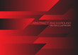 Abstract red black speed geometric technology design modern futuristic background vector illustration.
