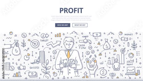 Fotomural Profit Doodle Concept