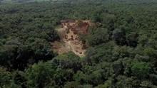 Aerial Shot Of Phrae Phae Muang Phi Forest Park Phrae Province Thailand