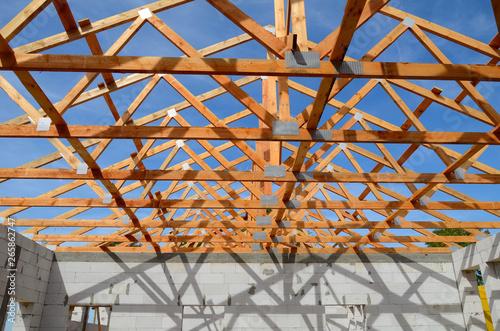 Fototapeta Budowa obiektu przemysłowego obraz