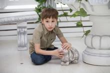 Ceramic Clay Hare Child.Little...
