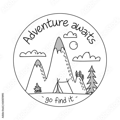 Adventure Awaits Go Find It Lettering Inspiring Typography