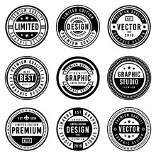 A Vintage Badge Design Set.