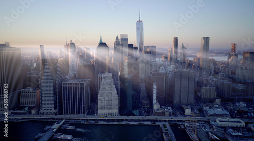 Fototapety, obrazy: High Rise Skyline Office Buildings in Finance Business City District