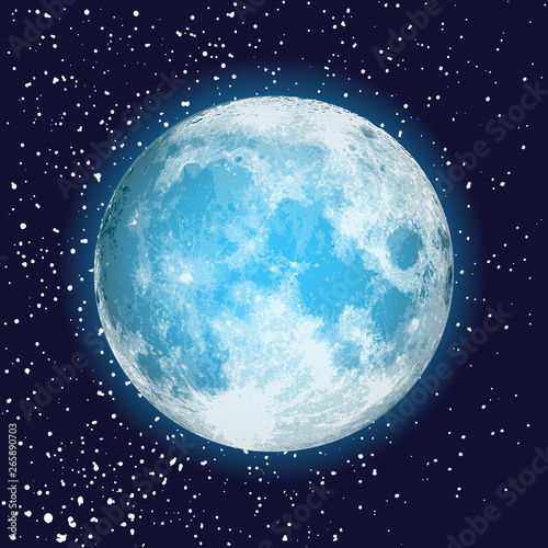 Photographie Realistic full moon isolated