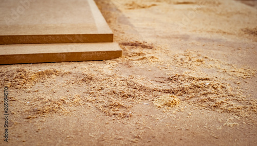 Fototapeta  MDF chipboard with sawdust