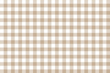 Brown Gingham pattern. Texture from rhombus/squares for - plaid, tablecloths, clothes, shirts, dresses, paper, bedding, blankets, quilts and other textile products. Vector illustration EPS 10 - 265895996