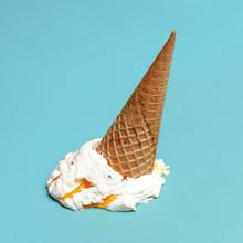 Vanilla Ice Cream Cone Drop Up...