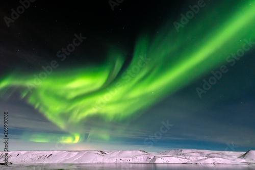 Fényképezés Aurora borealis on Reykjanes Peninsula
