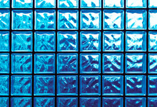 Tiled Glass Abstract Background In Blue And Aqua Colors