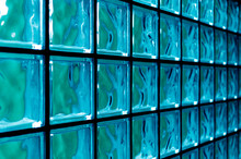 Tiled Glass Background In Blue And Aqua Colors