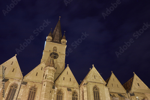 Fototapeta  Medieval church a night