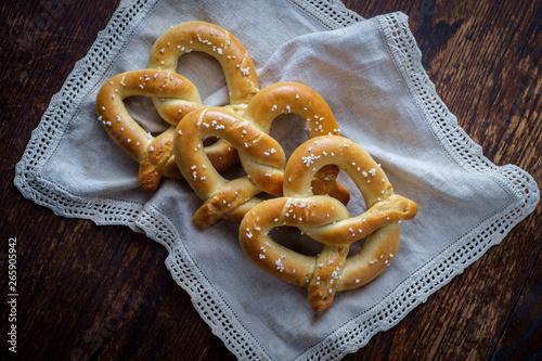Homemade Soft Pretzels Fototapeta