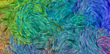 Abstract Impressionism Paintin...