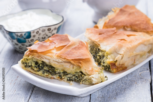 Phyllo pastry spinach pie