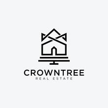 Crown Of House Logo - Vector Logo Template