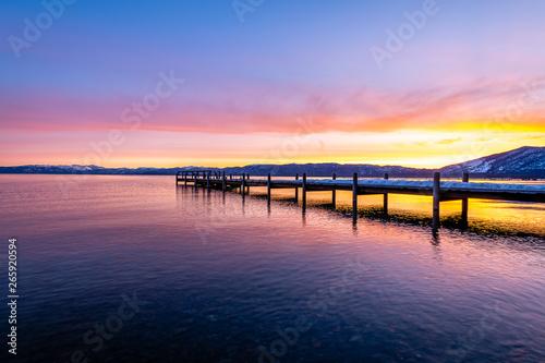 Tuinposter Baksteen Valhalla Pier at Dawn