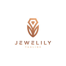 Jewel & Lily Logo - Vector Log...