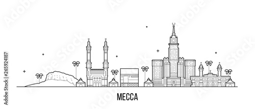 Fotografia Mecca Makkah skyline Saudi Arabia big city vector