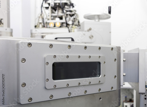 Photo A vacuum device industrial equipment of research and development laboratory