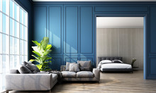 Modern Classic Blue Living And...