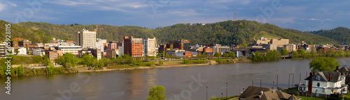 Photo The Ohio River Meanders by Reflecting Buildings of Wheeling West Virginia