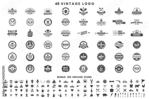 Fotografie, Obraz  Vintage Retro Vector Logo for banner