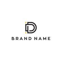 D Initial Letter Vector Logo D...