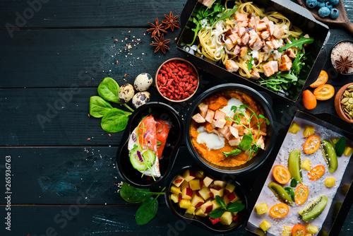 restaurant dish delivery Billede på lærred