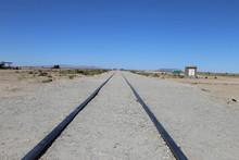 列車の墓場 ウユニ塩湖 ボリビア