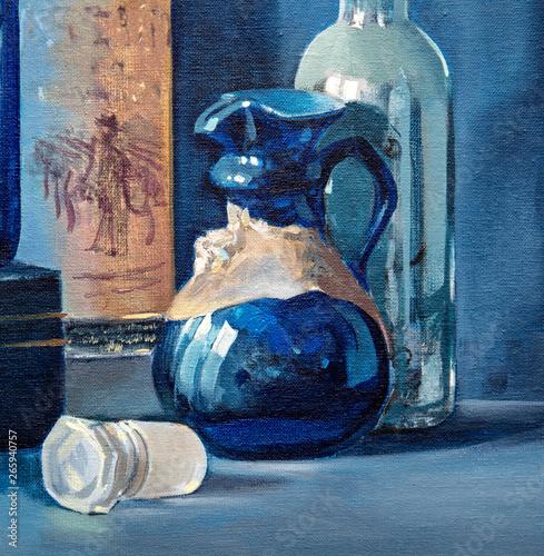 oil painting, still life, handmade Fototapeta
