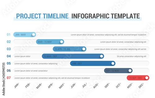 Obraz Timeline Infographics - fototapety do salonu