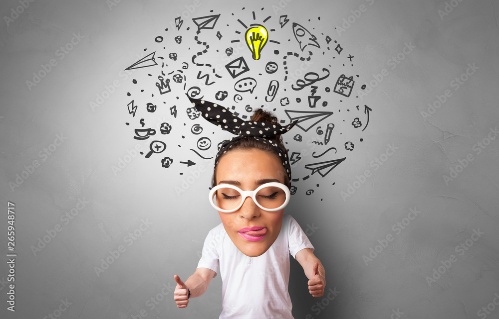 Groovy Acrylic Prints Funny Big Head On Small Body With Management Schematic Wiring Diagrams Amerangerunnerswayorg