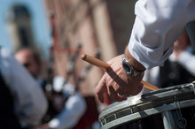 Closeup Of Hand Of Drummer In ...
