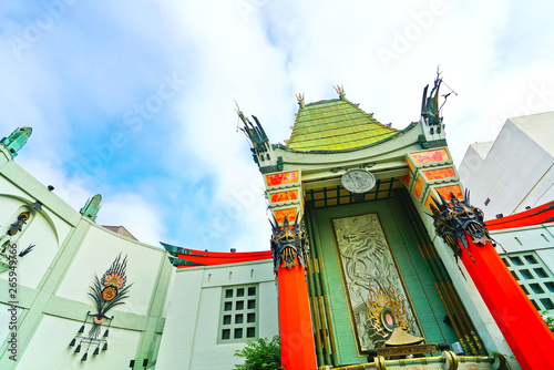 View of TCL Chinese Theatre on the Hollywood Boulevard in Los Angeles Fototapete