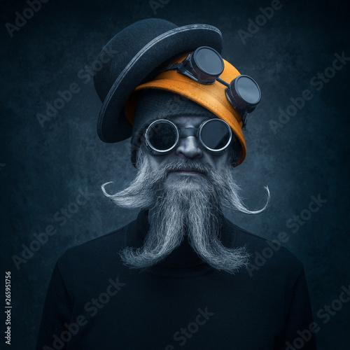 Fotografie, Obraz  Portrait of a bearded man in with sunglasses